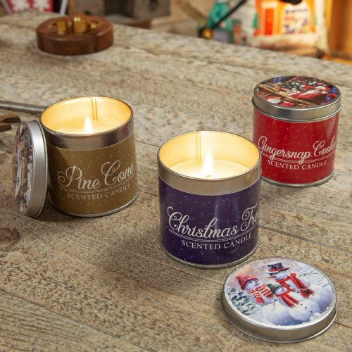Christmas Scented Tin Candles Gifts
